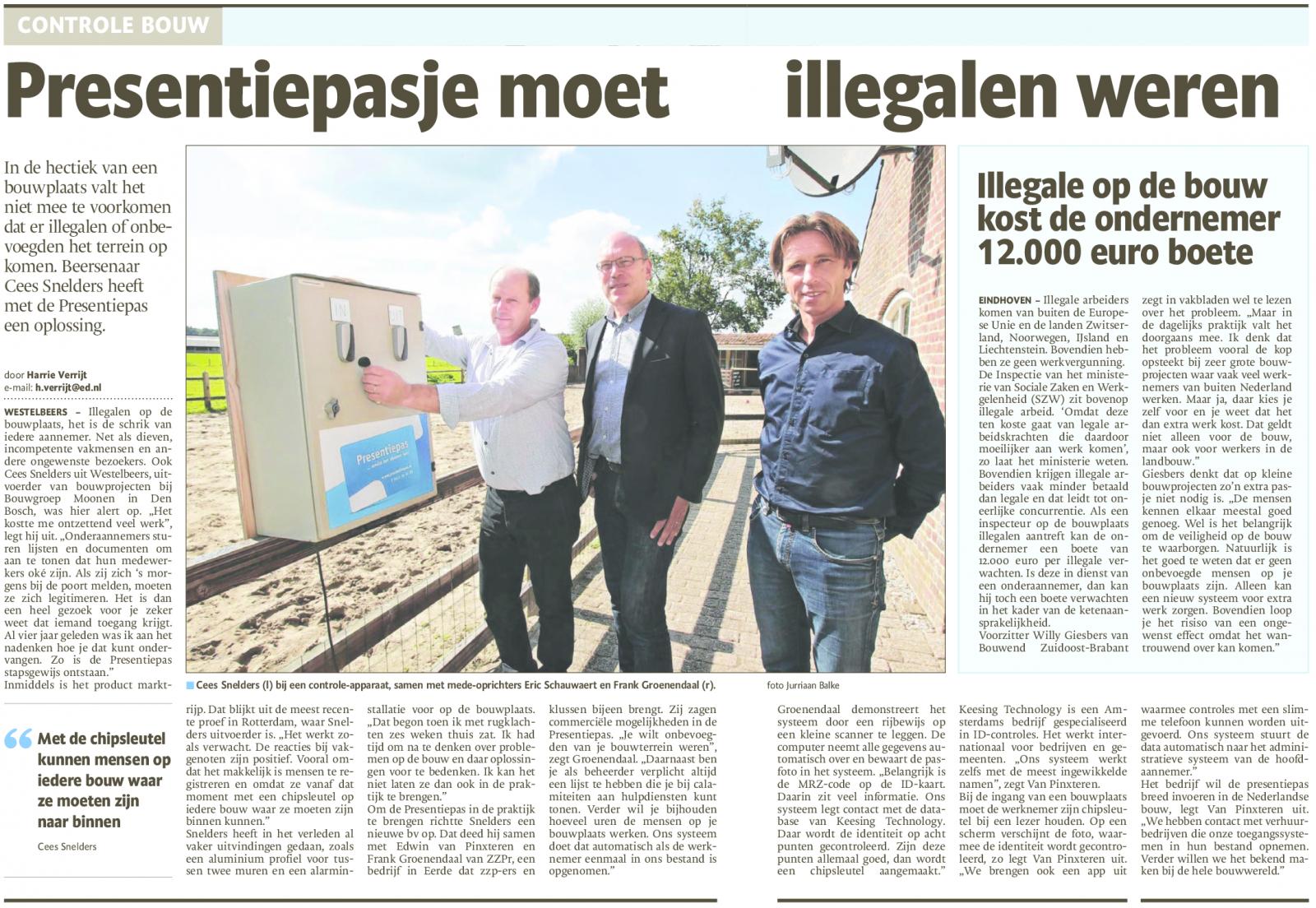 Eindhovens_dagblad_Presentiepas